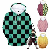 Demon Slayer Kimetsu no Yaiba Tomioka Giyuu Nezoko Hoodie Sweatshirt Jacket Tops