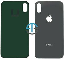 Battery Cover For iPhone X Back Rear Glass Housing Replacement Big Hole - Black