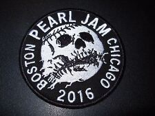 PEARL JAM Skull Embroidered Iron-on Patch WRIGLEY FIELD CHICAGO FENWAY BOSTON