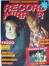 RECORD MIRROR 25/9/82 - YAZOO - SPANDAU BALLET - STIFF LITTLE FINGERS
