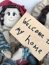 Handmade Rag Doll Ornament Cleaner Kitchenware Joblot Wooden Gift Welcome