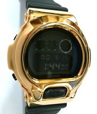 BLING-SHOCK - Custom Casio G-SHOCK DW-6900 - Blackout/Gold - NEW