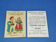 CHROMO CHOCOLATERIE FRANCO-BELGE HALLUIN NORD COSTUMES FRANCE BEARN