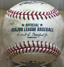 RYON HEALY 1st HIT+RBI as MARINER GAME-USED MLB BASEBALL OPENING DAY 2018 GIANTS