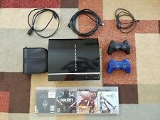 Sony PlayStation 3 Original Black w/ Games (Black Ops, Uncharted, Skyrim, FF13)