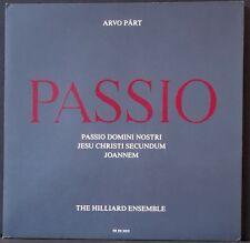 ECM 1370 ED 1 ARVO PART PASSIO HILLIARD ENSEMBLEMICHAEL GEORGE P. HILLIER NM