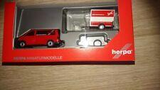 """Herpa 094290 - 1/87 VW T6 Bus mit Kofferanhänger """"Herpa"""" Anhänger von VK-Modelle"""