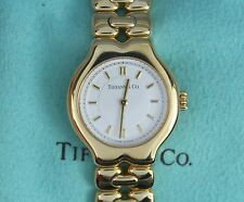 $12K Tiffany & Co Ladies Tesoro 18k Yellow Gold 24.6mm Round Wrist Watch L0133