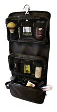 Mens Wash Bag Hanging Gents Travel Toiletry Camping Organiser Shaving Case Black
