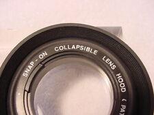 Vintage 49mm (Snap-on) Collapsible Standard Rubber Lens Hood | Nice | LN | $8 |