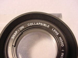 Vintage 49mm (Snap-on) Collapsible Standard Rubber Lens Hood | Nice | LN | $8 |