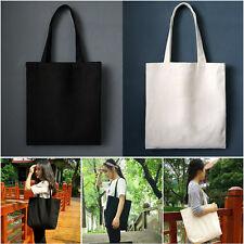 DIY Canvas Tote Bag for Woman Fabric Shopping Shoulder Bag Handmade Gift