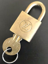 Vintage Louis Vuitton Brass Lock and key Set No Reserve!