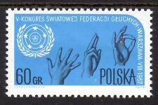 Poland - 1967 Congress for the deaf - Mi. 1780 MNH