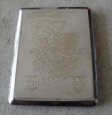 Vintage Kincraft England Metal Cigarette Case with Scotland Map