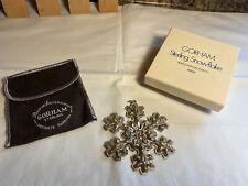 Vintage 1976 Gorham Sterling Silver Snowflake Ornament