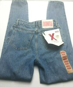 Vintage Bongo Womens Jeans Size 9 High Rise Extra Long Mom Rigid Denim NEW