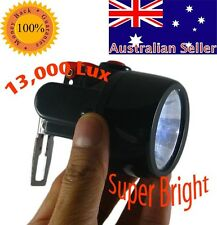 Caving Cordless LED Work Light Safety Head Cap Lamp Torch 12v volt Spotlight