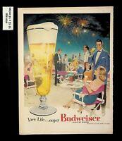 1956 Budweiser King of Beers Vintage Print Ad 13257