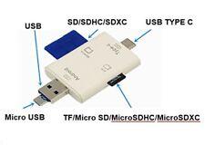 Lecteur Carte SD USB Micro SD Card Reader - 3 en 1 pour PC/Macbook/Android OTG..