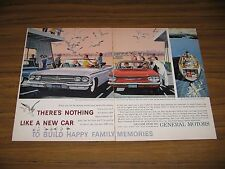 1960 Print Ad The '60 Chevrolet Impala Convertible & Red Chevy Corvair