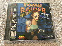 Tomb Raider III 3 - Black Label - Sony PlayStation 1 PS1 - COMPLETE - TESTED