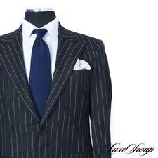 ICONIC Ralph Lauren Purple Label Charcoal Braided Stripe Savile Row DB Jacket 40
