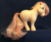 Vintage My Little Pony Cotton Candy Pink Earth Pony G1 1982 Concave Hooves