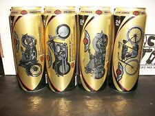 4 Mgd 24oz Harley beer cans bottom opened