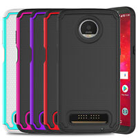 For Motorola Moto Z3 Hard Protective Case Cover+Tempered Glass Screen Protector