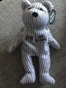 Yankees BAMM BEANO'S 26 Hernandez 98 Champ Tag UK Seller Soft Plush Bear Orlando