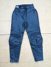 "ASHMAN Ladies Leather Motorbike Motorcycle Trousers UK 10 28"" Waist   T41"
