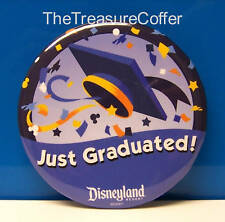 Disneyland Button ~ Lot of 2 Just Graduated Disney Buttons ~ Limited Edition HTF