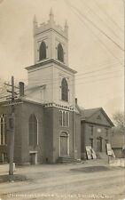 Springfield VT * Town Hall & Church RPPC ca. 1908  Windsor Co.