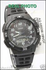 AQ-S800W-1B Black Casio Watch Tough solar 5 alarms World time Stopwatch Rsein