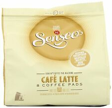 Douwe Egberts Senseo Cafe Latte Coffee (Pack of 8, Total 64 Pods) New Design
