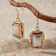 New Tara Mesa Moonstone Embellished Rectangle Earrings