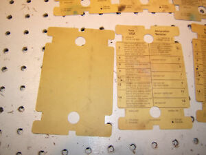 Mercedes W123 Under hood USA version fuse designation OE 1 Sheet Only,1235450600