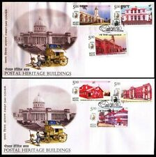 INDIA 13-5-2010-Postal Heritage Buildings FDC-Set of 6 (2 FDC)-Indipex 2011