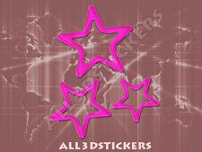 Pegatina Estrellas 3D Relieve - Color Rosa
