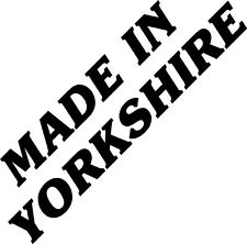 Made in Yorkshire Bumper Car Bike Window Van Sticker BU3