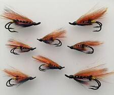 salmon Flies THUNDER and LIGHTNING Doubles sizes 4- 10 Pack of EIGHT (8) #166
