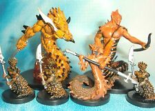 Dungeons & Dragons Miniatures Lot  Flamebrother Salamander Firetail Lair  s112