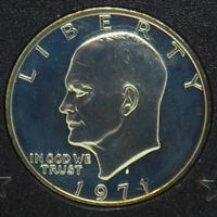 1971-S U.S. Mint Eisenhower Proof Silver Dollar in Case