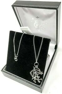 GLASGOW RANGERS FC STERLING SILVER - PENDANT & CHAIN NECKLACE RFC JEWELLERY
