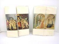 2 Italian Writing Paper Matching Envelope Sets Religious Art 10/Set Stationery