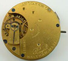 Waltham Royal Pocket Watch Movement - Good Balance -  Parts / Repair