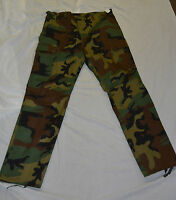 New woodland camo combat style pants size large (#bte75)