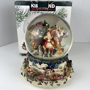 Kirkland Christmas Musical Waterglobe Revolving Inner Scene Original Box *Read*