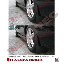 Rally Armor Basic Mud Flaps For 02-07 For Subaru Impreza Sedan Black w/ Red Logo